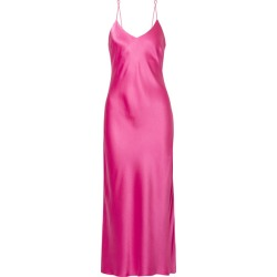 Anine Bing - Rosemary Silk-satin Midi Dress - Pink found on MODAPINS from NET-A-PORTER for USD $300.00