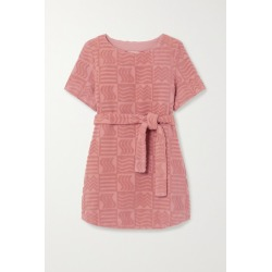 Lucy Folk - Belted Cotton-terry Mini Dress - Antique rose found on MODAPINS from NET-A-PORTER UK for USD $297.28