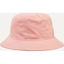 Acne Studios - Buk Face Appliquéd Cotton-twill Bucket Hat - Baby pink found on Bargain Bro UK from NET-A-PORTER UK