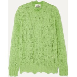 Acne Studios - Kelenal Frayed Cable-knit Sweater - Lime green found on Bargain Bro UK from NET-A-PORTER UK