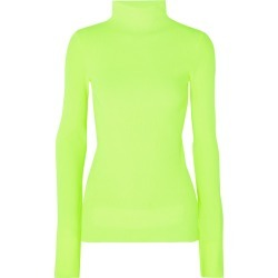 Helmut Lang - Neon Ribbed Cotton Turtleneck Sweater - Green found on MODAPINS from NET-A-PORTER UK for USD $333.61