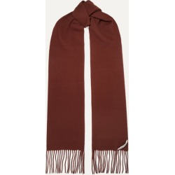 Acne Studios - Canada Skinny Fringed Wool Scarf - Brick found on Bargain Bro UK from NET-A-PORTER UK