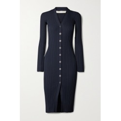 Dion Lee - Ribbed-knit Midi Dress - Midnight blue found on MODAPINS from NET-A-PORTER for USD $690.00