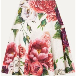 Dolce & Gabbana - Floral-print Cotton-blend Jacquard Mini Skirt - Pink found on Bargain Bro India from NET-A-PORTER for $836.50