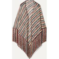 Missoni - Fringed Metallic Crochet-knit Wrap - Blue found on Bargain Bro UK from NET-A-PORTER UK