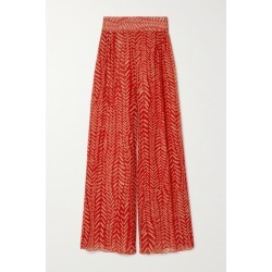 Johanna Ortiz - Transit To The Stars Printed Crepe De Chine Pants - Red found on MODAPINS from NET-A-PORTER for USD $550.00