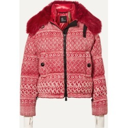 Moncler Genius - + 3 Grenoble Faux Shearling-trimmed Wool-blend Tweed Down Jacket - Red found on Bargain Bro UK from NET-A-PORTER UK
