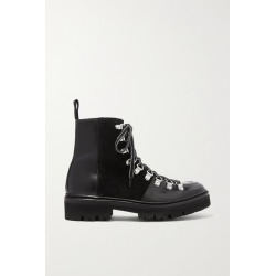 Grenson - Nanette Leather And Suede Ankle Boots - Black found on MODAPINS from NET-A-PORTER UK for USD $445.27