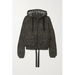 THE UPSIDE - Ramy Hooded Leopard-print Stretch-shell Jacket - Animal print found on Bargain Bro from NET-A-PORTER for USD $144.40