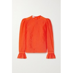 Beaufille - Maiolino Ruffled Stretch-crepe Blouse - Orange found on MODAPINS from NET-A-PORTER for USD $267.50