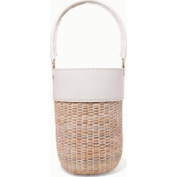Kayu - Lucie Leather And Straw Tote - White found on MODAPINS from NET-A-PORTER UK for USD $291.40
