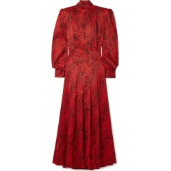 Alessandra Rich - Leopard-print Silk-jacquard Maxi Dress - Red found on MODAPINS from NET-A-PORTER for USD $1068.00