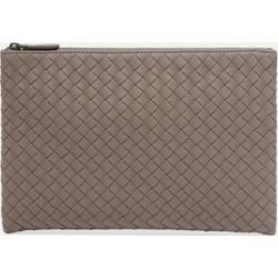 Bottega Veneta - Intrecciato Leather Pouch - Gray found on Bargain Bro Philippines from NET-A-PORTER for $760.00