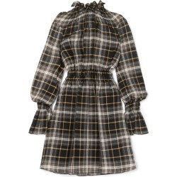 Beaufille - Galileo Ruffled Plaid Cotton And Silk-blend Voile Tunic - Gray green found on MODAPINS from NET-A-PORTER UK for USD $261.02