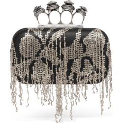 Alexander McQueen - Knuckle Embellished Leather Clutch - Black found on MODAPINS from NET-A-PORTER UK for USD $3122.60