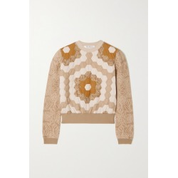 Max Mara - Cosmo Quilted Cotton-jacquard Sweatshirt - Beige found on Bargain Bro UK from NET-A-PORTER UK