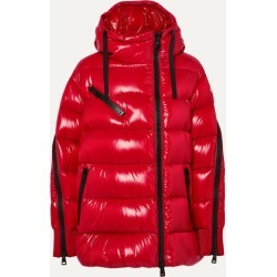 Moncler - Liriope Hooded Quilted Glossed-shell Down Jacket - Red found on Bargain Bro UK from NET-A-PORTER UK