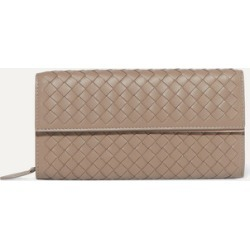 Bottega Veneta - Intrecciato Leather Continental Wallet - Taupe found on Bargain Bro UK from NET-A-PORTER UK