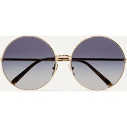 Dolce & Gabbana - Round-frame Printed Acetate And Gold-tone Convertible Sunglasses - Blue found on Bargain Bro UK from NET-A-PORTER UK