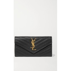SAINT LAURENT - Quilted Textured-leather Wallet - Black found on Bargain Bro UK from NET-A-PORTER UK