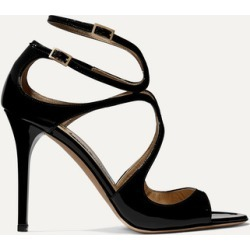Jimmy Choo - Lang 100 Patent-leather Sandals - Black found on Bargain Bro UK from NET-A-PORTER UK