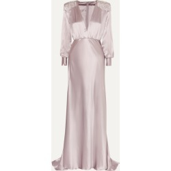 Alessandra Rich - Crystal-embellished Silk-satin Gown - Lavender found on MODAPINS from NET-A-PORTER for USD $1490.00