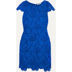 Alice Olivia - Guipure Lace Mini Dress - Blue found on MODAPINS from NET-A-PORTER for USD $395.00