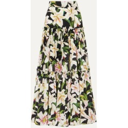 Dolce & Gabbana - Tiered Floral-print Cotton-poplin Maxi Skirt - Black found on Bargain Bro India from NET-A-PORTER for $1011.50