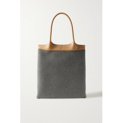 Gabriela Hearst - Leather-trimmed Cashmere Tote - Gray found on MODAPINS from NET-A-PORTER for USD $1750.00