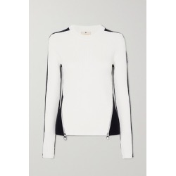 Chloé - + Fusalp Zip-embellished Two-tone Ribbed Wool Sweater - White found on Bargain Bro UK from NET-A-PORTER UK