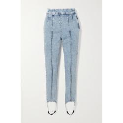 Isabel Marant - Nanouli Ribbed High-rise Skinny Stirrup Jeans - Light denim found on Bargain Bro UK from NET-A-PORTER UK
