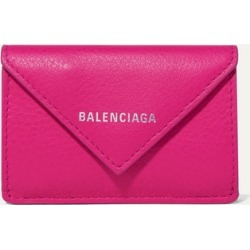 Balenciaga - Papier Mini Printed Textured-leather Wallet - Magenta found on Bargain Bro Philippines from NET-A-PORTER for $350.00