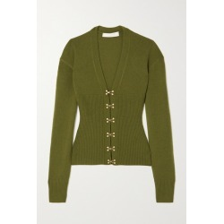 Dion Lee - Ribbed Wool And Cashmere-blend Cardigan - Cream found on MODAPINS from NET-A-PORTER UK for USD $774.78