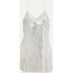 Alice Olivia - Contessa Paillette-embellished Chiffon Mini Dress - White found on MODAPINS from NET-A-PORTER for USD $660.00