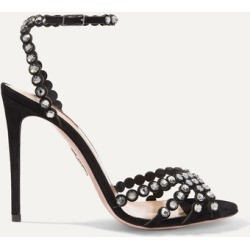 Aquazzura - Tequila 105 Crystal-embellished Suede Sandals - Black found on Bargain Bro India from NET-A-PORTER for $675.00