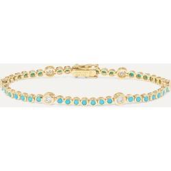 Jennifer Meyer - 18-karat Gold, Diamond And Turquoise Bracelet
