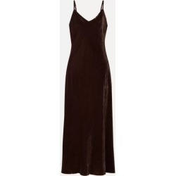 HATCH - The Ricky Velvet Midi Dress - Chocolate found on MODAPINS from NET-A-PORTER UK for USD $421.73
