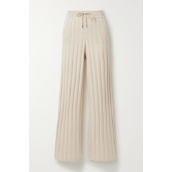 Loro Piana - Paddington Ribbed Cashmere Track Pants - Beige found on MODAPINS from NET-A-PORTER for USD $2900.00