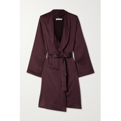 SKIN - Tina Washed Silk-blend Satin Robe - Burgundy found on Bargain Bro India from NET-A-PORTER for $350.00