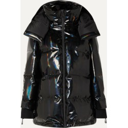 Fendi - Hooded Appliquéd Quilted Holographic Down Ski Jacket - Black found on Bargain Bro Philippines from NET-A-PORTER for $2590.00
