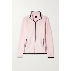 BOGNER FIRE+ICE - Gilda Jersey-trimmed Fleece Jacket - Pink found on Bargain Bro from NET-A-PORTER for USD $167.20