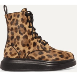 Alexander McQueen - Leopard-print Calf Hair Ankle Boots - Leopard print found on MODAPINS from NET-A-PORTER for USD $623.00