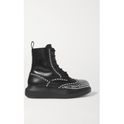 Alexander McQueen - Studded Leather Exaggerated-sole Ankle Boots - Black found on MODAPINS from NET-A-PORTER for USD $840.00