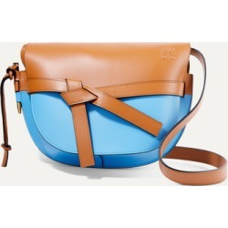 Loewe - Gate Small Color-block Leather Shoulder Bag - Tan found on Bargain Bro UK from NET-A-PORTER UK