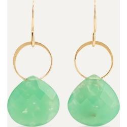 Melissa Joy Manning - + Net Sustain 14-karat Gold Chrysoprase Earrings - one size