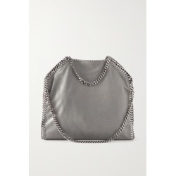 Stella McCartney - The Falabella Medium Vegetarian Brushed-leather Shoulder Bag - Light gray found on MODAPINS from NET-A-PORTER UK for USD $1153.33