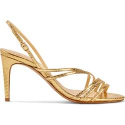 Alexandre Birman - Shanty Watersnake Slingback Sandals - Gold found on MODAPINS from NET-A-PORTER for USD $318.00