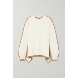 JW Anderson - Draped Paneled Cotton-terry And Jersey Sweatshirt - Beige found on MODAPINS from NET-A-PORTER UK for USD $314.33