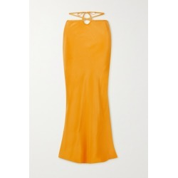 Christopher Esber - Tie-detailed Silk-satin Maxi Skirt - Yellow found on MODAPINS from NET-A-PORTER UK for USD $625.77