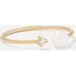 Mizuki - 14-karat Gold, Pearl And Diamond Ring - 5